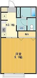 東京都八王子市中野町の賃貸アパートの間取り