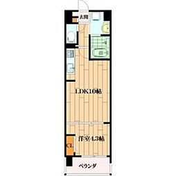 ルーエ桜川[801号室]の間取り