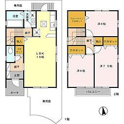 [テラスハウス] 兵庫県神戸市西区白水2丁目 の賃貸【/】の間取り