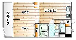 コートハウス大手町[5階]の間取り