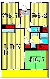 シェモア松戸[3階]の間取り