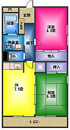 アビタシオンカモガワ[3階]の間取り
