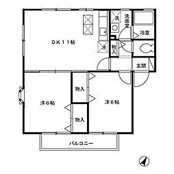 ガーデンプラザ壱番館[1階]の間取り