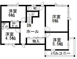 [一戸建] 北海道函館市女那川町 の賃貸【/】の間取り