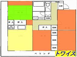 東京都羽村市緑ヶ丘3丁目の賃貸マンションの間取り