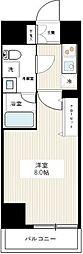 東京メトロ日比谷線 北千住駅 徒歩17分の賃貸マンション 7階1Kの間取り