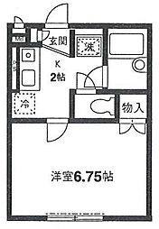 ハイツ・ヤマカA棟[2階]の間取り