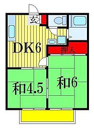 千葉県船橋市本町6丁目の賃貸アパートの間取り