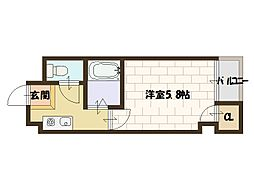 メゾンナカムラ[202号室]の間取り