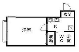 神奈川県横浜市磯子区田中1丁目の賃貸アパートの間取り