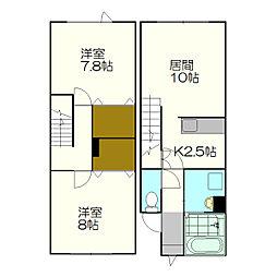 [テラスハウス] 北海道札幌市厚別区厚別西四条3丁目 の賃貸【/】の間取り