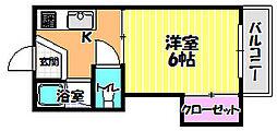 西井ハイツ[105号室]の間取り