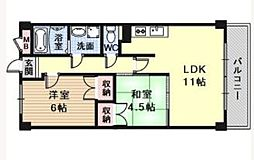 REBANGA武庫之荘アパートメント[205号室]の間取り