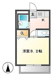 フォルサ茶屋ヶ坂[1階]の間取り