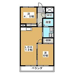 ロワールレジデンスII[4階]の間取り