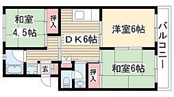 第2高木マンション[101号室]の間取り