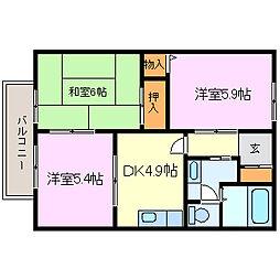 サニーコート亀崎[2階]の間取り