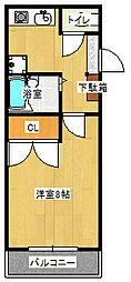 エスパシオ澤田[207号室]の間取り