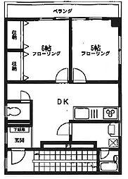 杉山ハイツ[3階]の間取り