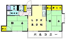 ドムールG・B棟[2階]の間取り