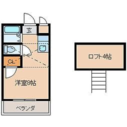 アトリウム津福本町[203号室]の間取り