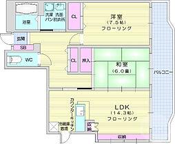 仙台市営南北線 富沢駅 徒歩6分の賃貸アパート 1階2LDKの間取り