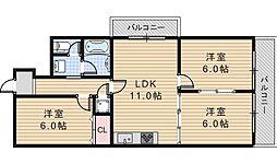 ロイヤルハイツ阿倍野[6階]の間取り