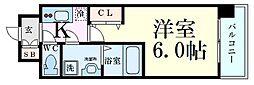 レオンコンフォート梅田北 8階1Kの間取り