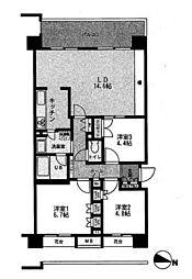 パティオス17番街[2階]の間取り