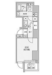 リヴシティ赤坂[1201号室]の間取り