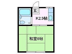 三重県四日市市浜一色町の賃貸アパートの間取り