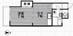 アビタシオン新宿[205号室号室]の間取り