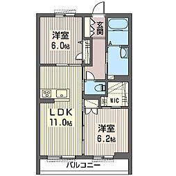 仮称 大行寺シャーメゾン[3階]の間取り