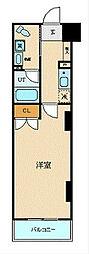 ブライトヒルレジデンス横浜 3階1Kの間取り