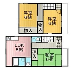 [一戸建] 大阪府豊中市上野西3丁目 の賃貸【/】の間取り