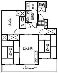 リベーラガーデン2[305号室]の間取り