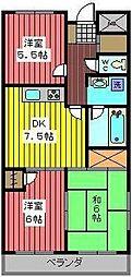 埼玉県さいたま市緑区道祖土1丁目の賃貸マンションの間取り