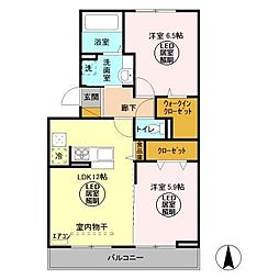仮)D−room久保ヶ丘[1階]の間取り