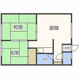 ピソ南郷[2階]の間取り