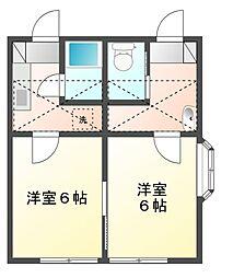 パークハイムII[1階]の間取り