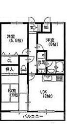 ソレイユ武庫川[503号室]の間取り