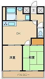 セルジュYS出屋敷[6階]の間取り