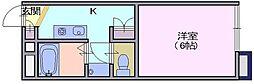 レオパレス 秋桜[208号室]の間取り