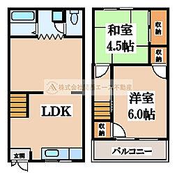 [テラスハウス] 大阪府堺市西区上野芝向ケ丘町2丁 の賃貸【/】の間取り