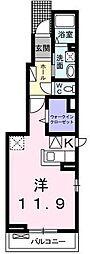 埼玉県川口市弥平4丁目の賃貸アパートの間取り