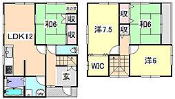 [タウンハウス] 兵庫県姫路市勝原区宮田 の賃貸【/】の間取り