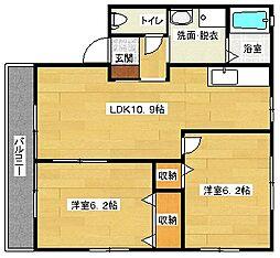 NYレトア[A102号室]の間取り