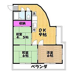マルマンプラザ武里[5階]の外観