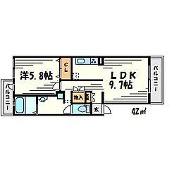 甲子園口ロイヤルハイツ[2階]の間取り