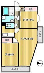 東大宮レジデンス[1階]の間取り